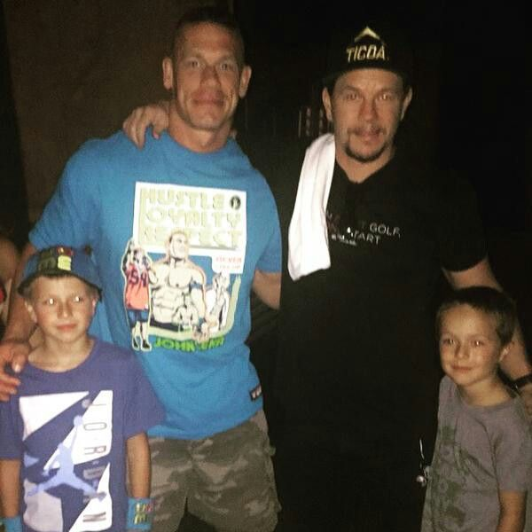 John Cena Mark Micheal And Brendon The Wahlberg Family