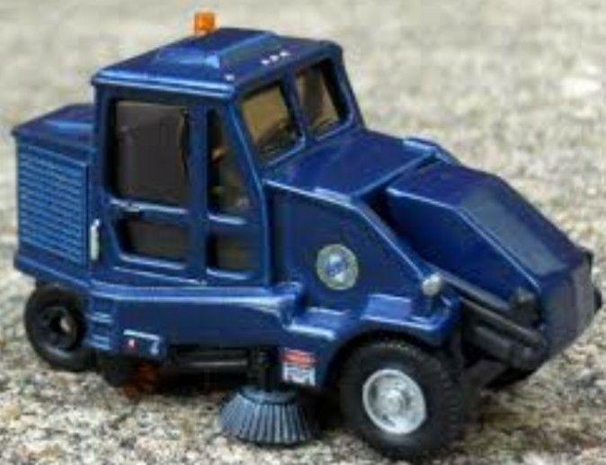 Blue Road Sweeper