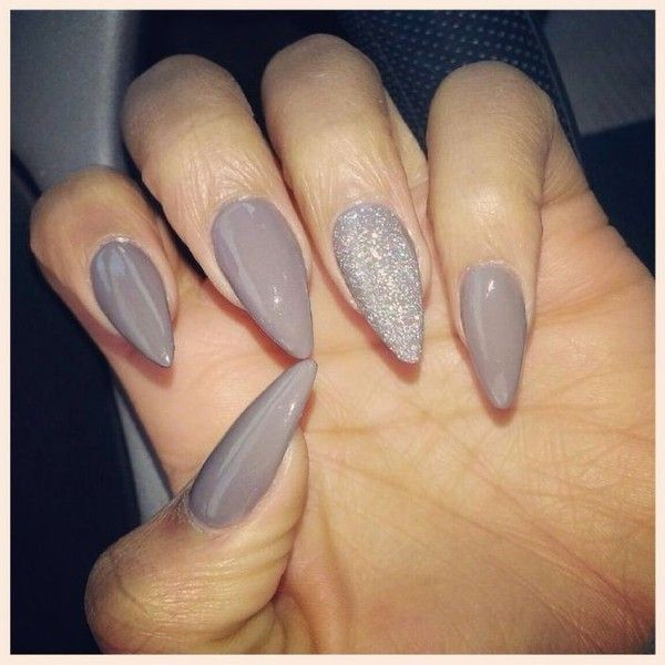 Awesome simple stiletto nails with a sparkle!   See more about Stiletto Nails, Simple Stiletto Nails and Stilettos.
