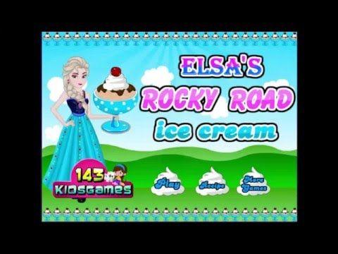 Disney's Frozen Games Online - Elsa Rocky Road Ice Cream Game