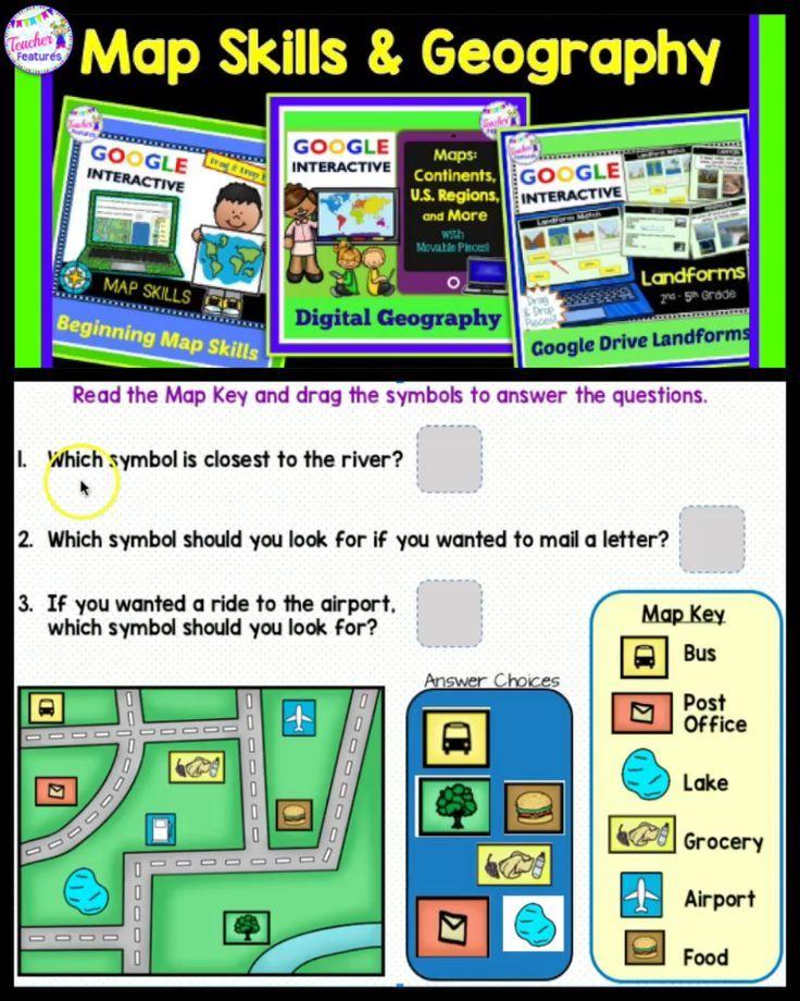 Google Classroom Social Studies Map Skills Geography Boom Cards Map Skills Google Classroom Social Studies Google Classroom