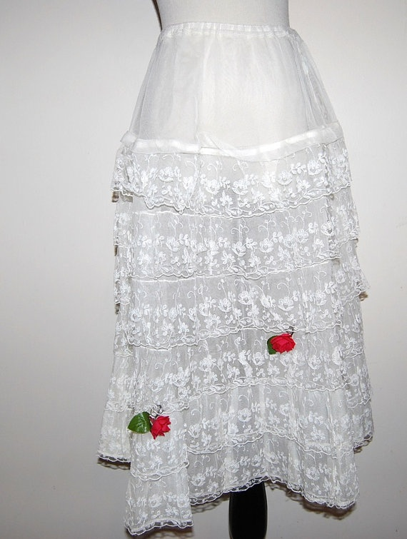 Vintage Rockabilly Petticoat Slip by CheekyVintageCloset on Etsy, $28.00