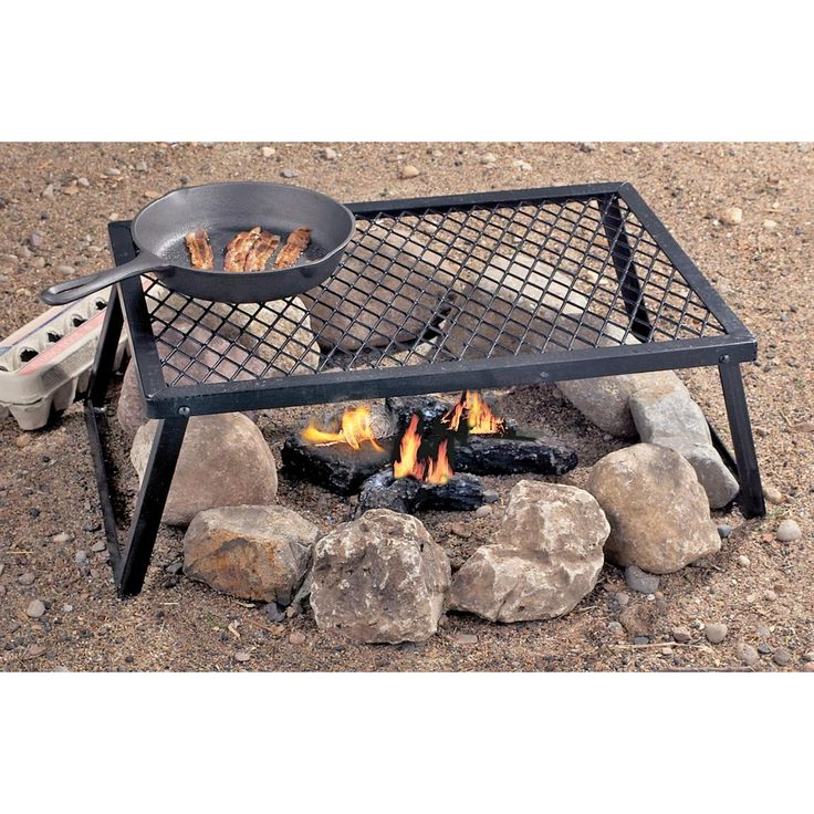 Grill Outdoor Cooking over a Campfire with this heavy duty Camp Grill #Camping