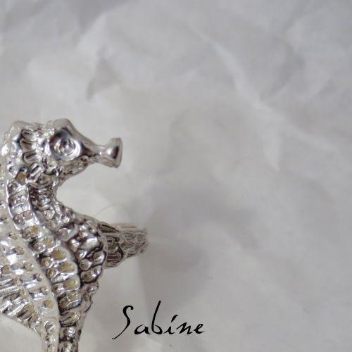 Sterling silver seahorse ring www.sabinejewellery.com.au