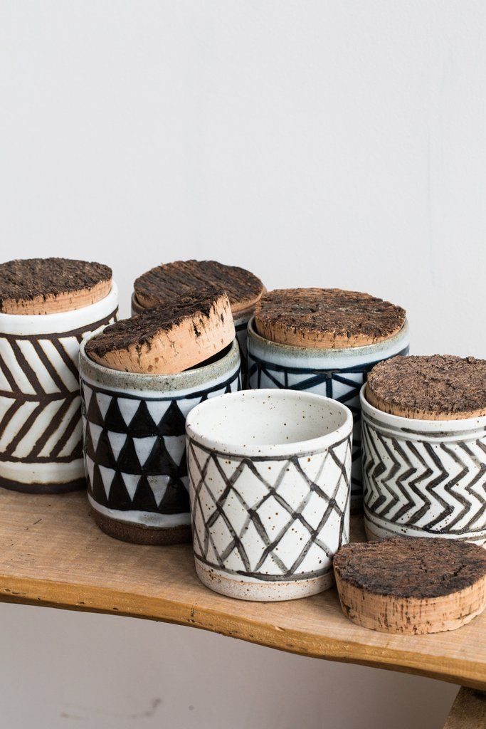 April Napier Patterned Canisters