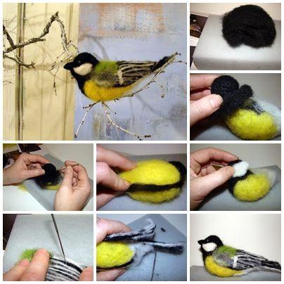 Wet Felting Projects | http://dinfantasifrahobbytilkunst.blogspot.no/