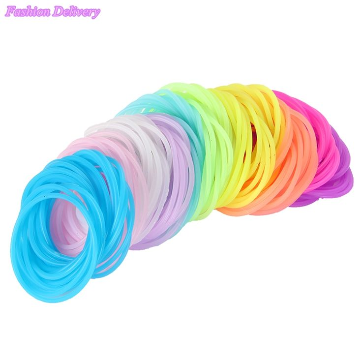 50pcs/Lot Mix Color Hair Rope Fluorescent Candy Color Elastic Hair Bands For Women Girl Kids Hair Rubber Bands Hair Accessories