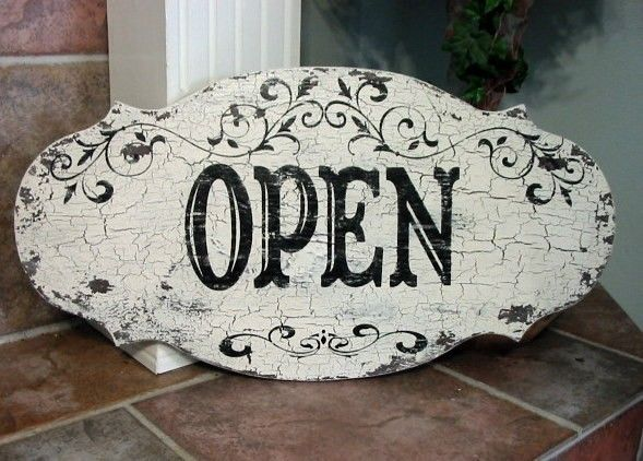OPEN / CLOSED / SHUT Business Signage French by thebackporchshoppe, $64.95