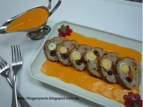 Hogar y Ocio: Rollo de carne relleno con salsa de piquillos