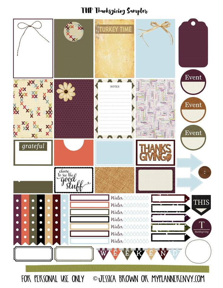 Thanksgiving Sampler for the Happy Planner