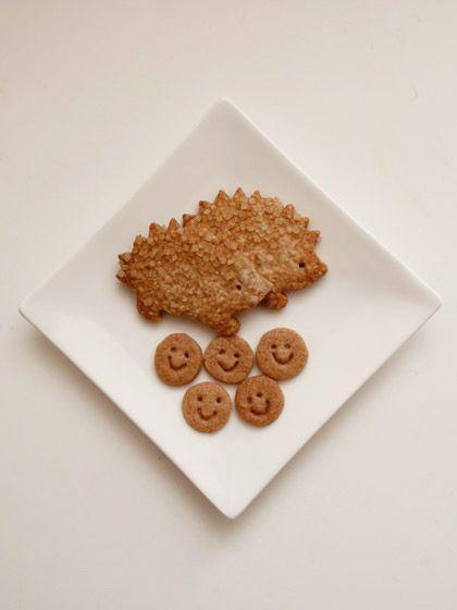 ドゥーズィエム ロッタ:スマイルクッキー&ハリネズミ型全粒粉クッキー