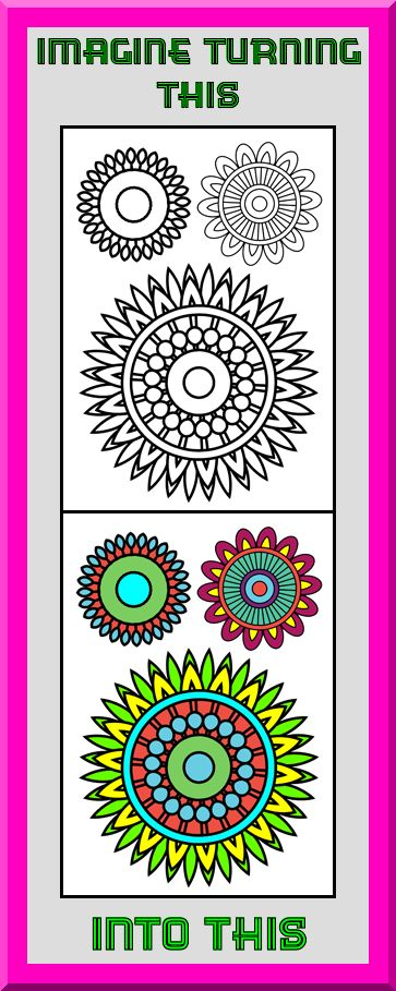 """Clear sharp outlines. You can print these mandala coloring pages as many times as you want which means you never have to worry about coloring them """"perfectly"""" on your first try! This  art therapy coloring book is $4.99 at Etsy. More printable coloring book pages for adults and teens at https://coloringbookspages.etsy.com"""