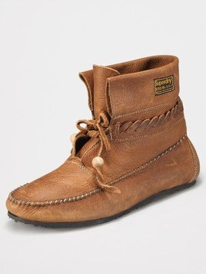Superdry Commanche Moccasin Ankle Boots