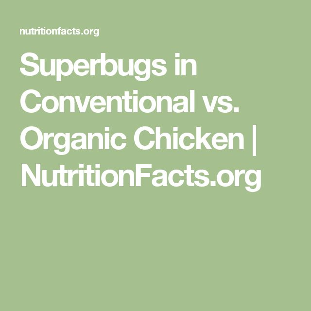 Superbugs in Conventional vs. Organic Chicken | NutritionFacts.org