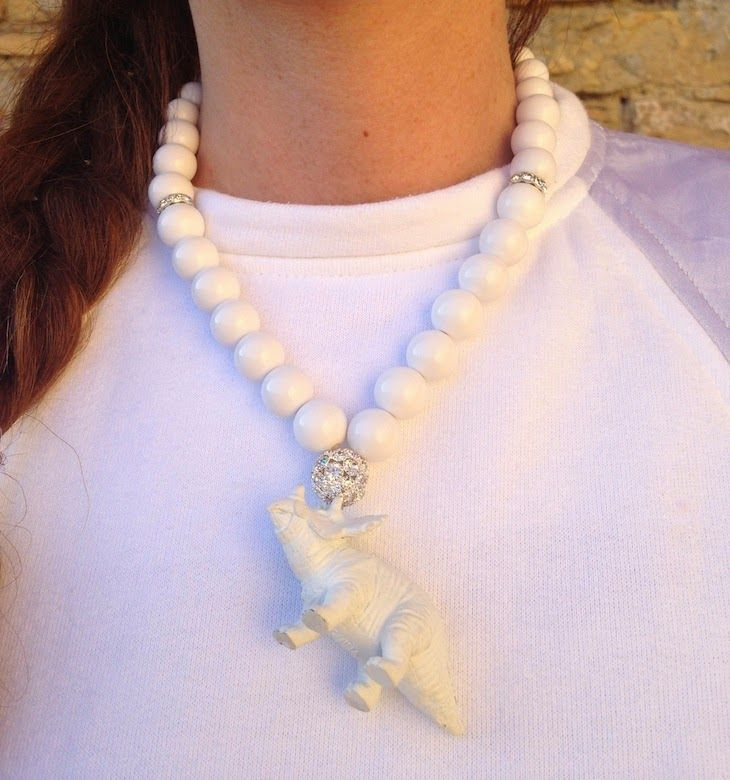 #white #necklace #dinosaurus #cool #triceratope #girl #fashion #summer #fashionblogger #fashionblog #trend #bianco #sweatshirt #summer #simple #elegant #chic #style #gioielli   NECKLACE by @Fusa Bijoux worn by @FASHIONAMY by Amanda Marzolini White outfit sweatshirt idea, tricerathope necklace dinosaurs, collana bianca dinosauro triceratopo fusabijoux,outfit bianco, funny jewels, ...