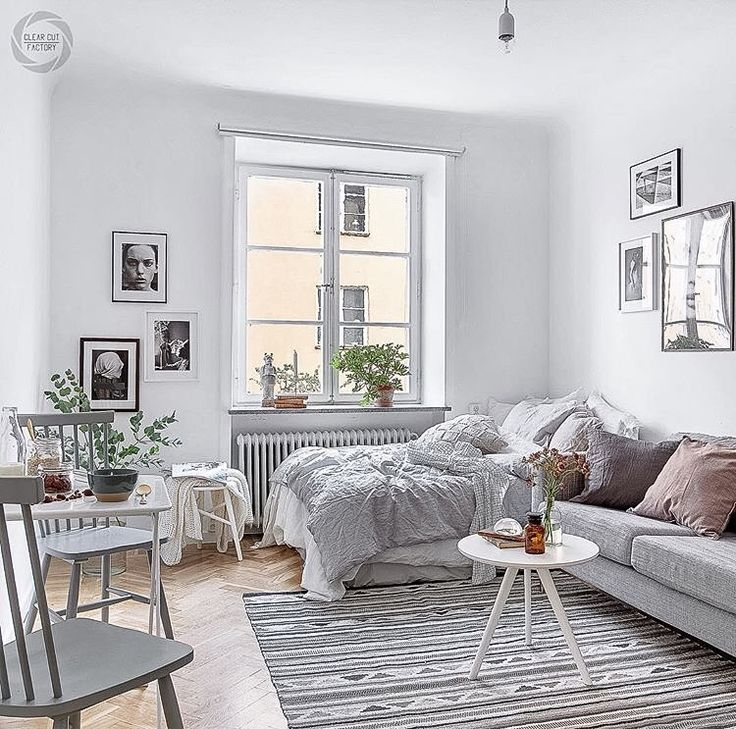 Studio Apartment Design & Decoration Ideas with The Advantages - Styling by @designtherapy.se photo by @clearcutfactory