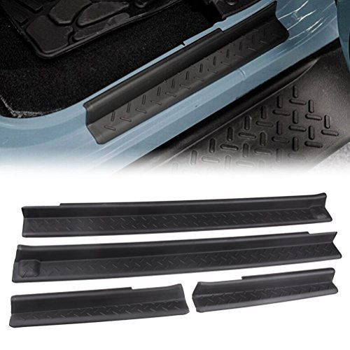MINGLI Front and Rear Entry Guards Door Entry Sill Plate Protectors For 2007-2016 Jeep Wrangler - http://www.caraccessoriesonlinemarket.com/mingli-front-and-rear-entry-guards-door-entry-sill-plate-protectors-for-2007-2016-jeep-wrangler/  #20072016, #Door, #Entry, #Guards, #Jeep, #MINGLI Front, #Plate, #Protectors, #Rear, #Sill, #Wrangler #Jeep-Parts-Accessories