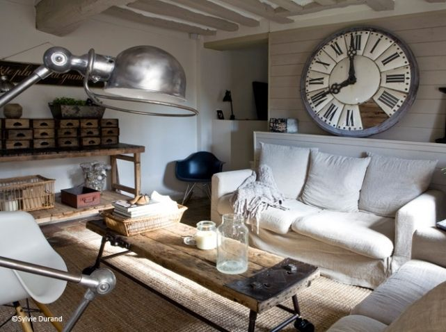 Idee Deco Salon Industriel Inspiration Maison