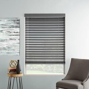 """Our Presidential 2"""" Painted Faux Wood offer colors that traditional faux wood blinds do not. Perfect for transitional and modern style, in any room of your home. Available at SelectBlinds.com."""