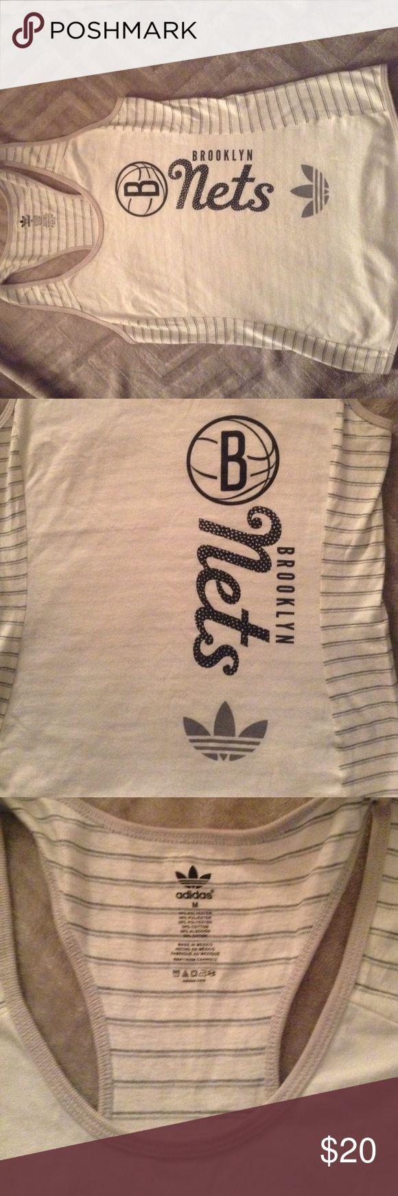 ADIDAS BROOKLYN NETS TANK TOP Adidas Brooklyn Nets tank top Adidas Tops Tank Tops