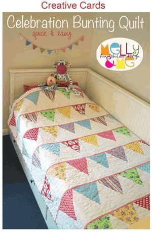 simple baby quilt - perhaps add baby's name to the flags