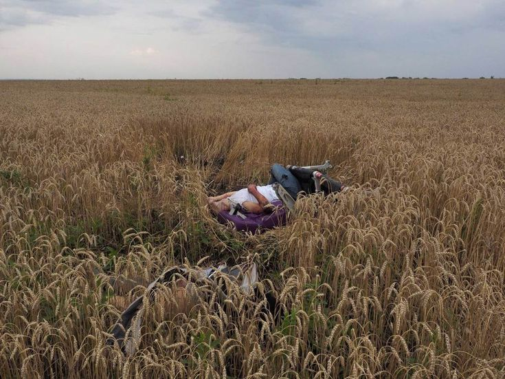 "<b>Jerome Sessini. Torez, Ukraine. July 17, 2014:</b> ""We were in Donetsk when we got word that a military plane had come down,"" says Magnum photographer Jerome Sessini. ""As we made our way there, we heard it was, in fact, a passenger plane. When we arrived, I could see the burning wreckage along the small roads. And the scene [revealed] itself to me: There were bodies strewn everywhere, and bits of plane scattered – it was a horrific scene.  <br><br> ""There were separatists guarding the ..."