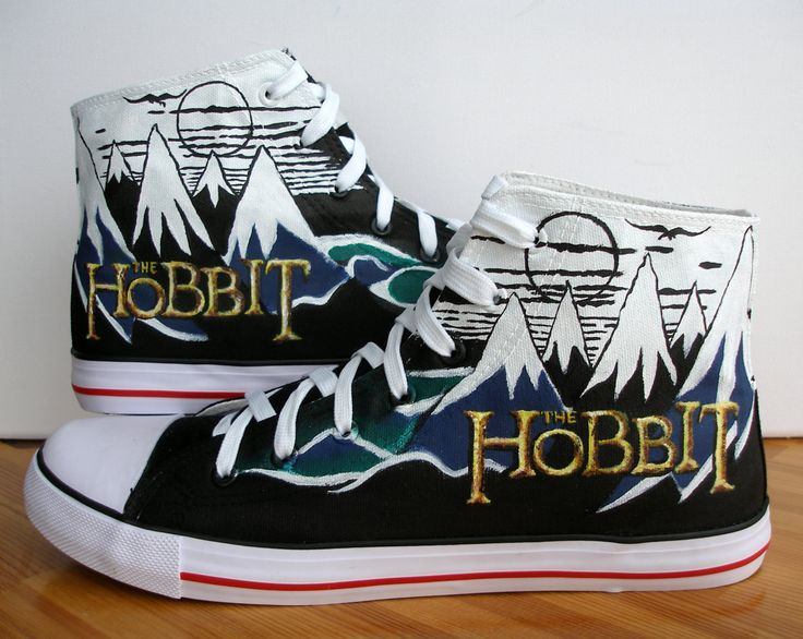 Custom Hand Painted Shoes The Hobbit