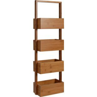 Buy Freestanding Bathroom Storage Caddy - Bamboo at Argos.co.uk - Your Online Shop for Bathroom shelves and units.