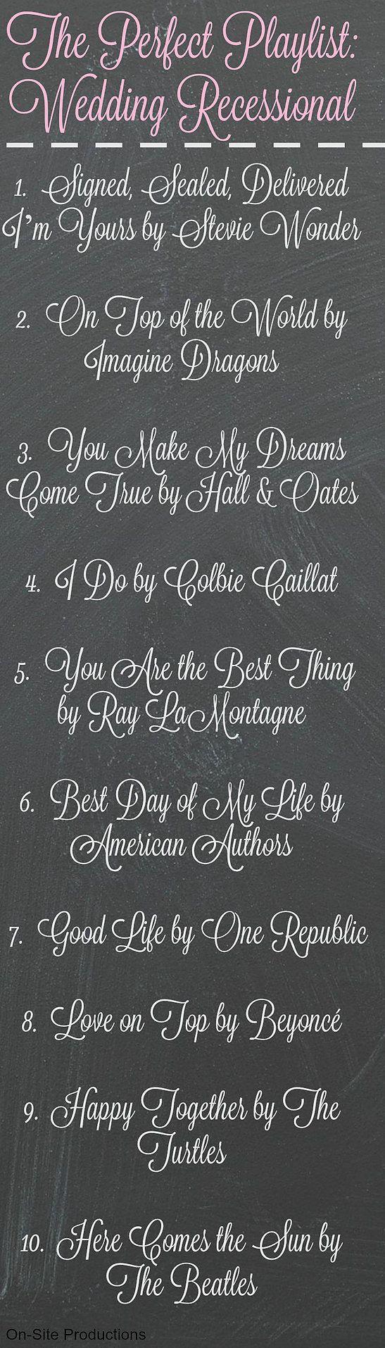 Ten Wedding Recessional Songs