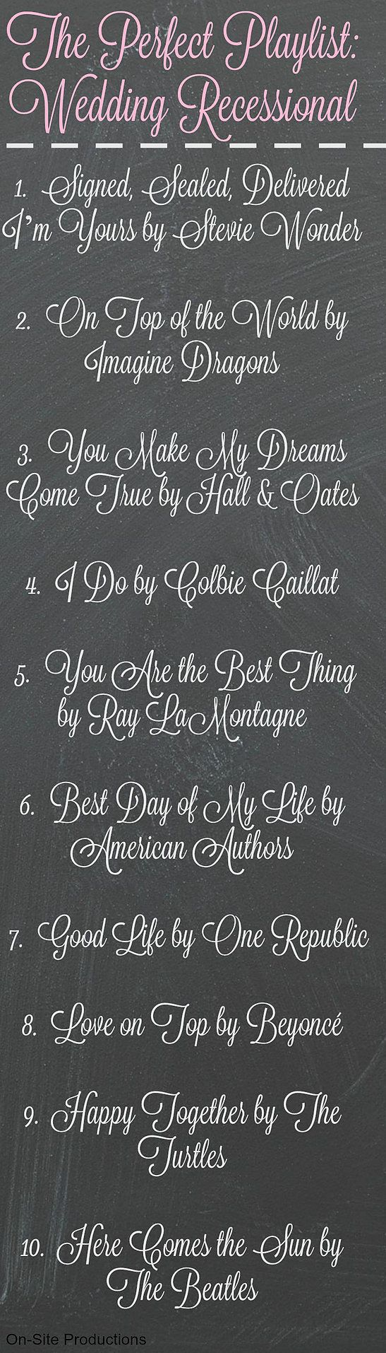 Ten Wedding Recessional Songs