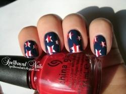 so cute for the 4thJuly Nails, Nails Art Ideas, Nails Design, Fourth Of July, 4Th Of July, Nails Polish, Patriots Nails, Nail Art, Blue Nails