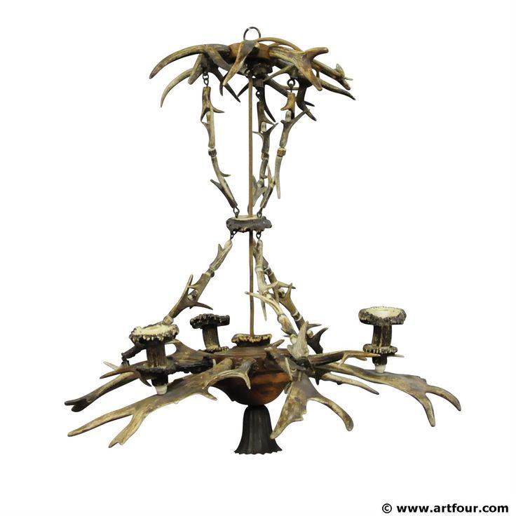 385 best antler furniture images on pinterest deer antlers deer a classy antique black forest antler chandelier aloadofball Choice Image