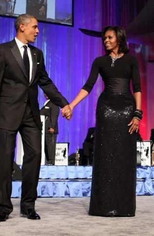 President Barack Obama and First Lady Michelle Obama by DeeDeeBean