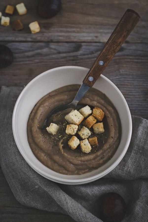 #zuppa di #castagne e sedano rapa - creamy #chestnut #soup
