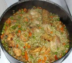 Arroz con Pollo Verde - Green Chicken with Rice