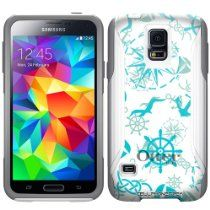 Otterbox Commuter Nautical Life on White Hybrid Case for Samsung Galaxy S5 //  Description This OtterBox® Commuter Case is made up of a durable 2 piece set that combines a sturdy silicone skin that lines your phone and a hard polycarbonate shell that snap