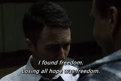 And then, something happened. I let go. Lost in oblivion. Dark and silent and complete. I found freedom. Losing all hope was freedom....