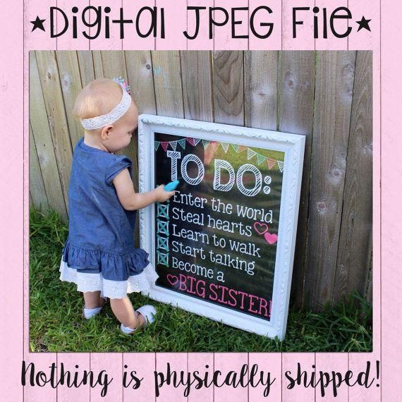 Zwangerschap aankondiging schoolbord Poster door PersonalizedChalk