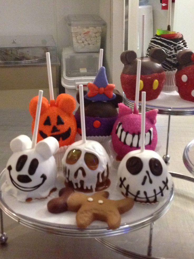 disneyland caramel apple ideas jack skellington the poison apple from snow white mickey ghost - Caramel Apple Ideas Halloween