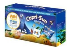 Capri-Sun and 20th Century Fox team up for on-pack promotion celebrating Rio 2 cinema release.