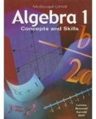 Larson Algebra 1: Concepts and Skills Textbook (Ed 1) - lessons linked to videos on Backpack TV