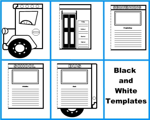 Back To School Bus Templates: Creative Writing Lesson