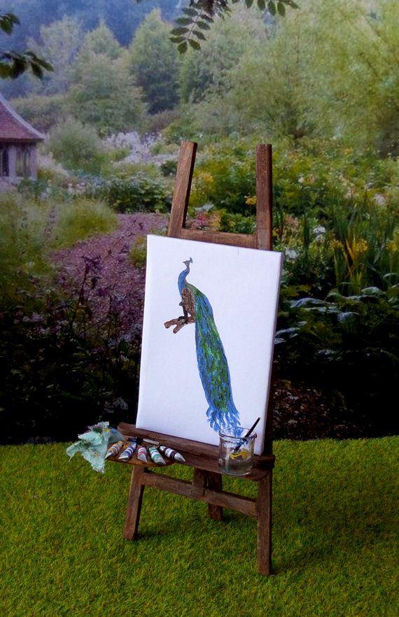 Chevalet de peintre avec palette et peinture par MadeInEven sur Etsy