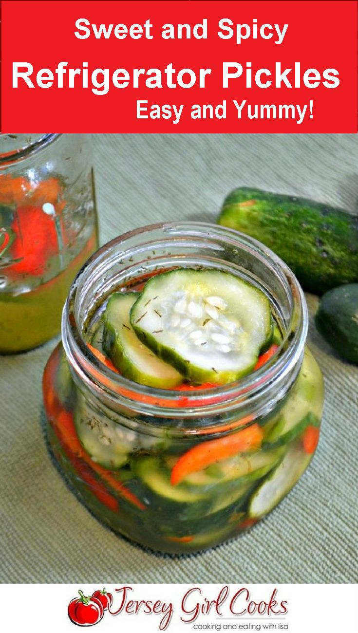 Jun 24, 2020 – Make these Sweet and Spicy Refrigerator Pickles. So easy as there is no canning involved! #picklerecipe #…