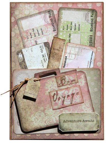 Timeless Travel Card - Suitcase Pocket - FabScraps