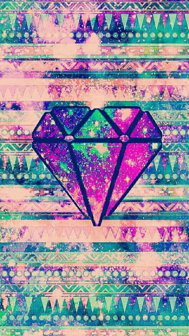 Grunge tribal diamond galaxy wallpaper I created for the app CocoPPa.