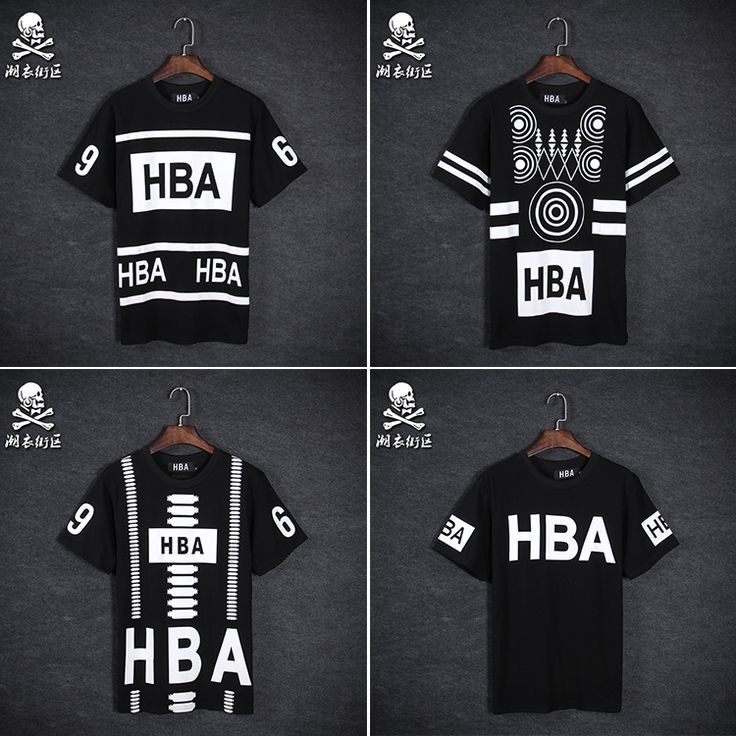 2015  Summer HBA number 69 t shirt Men Hood By Air t shirt short sleeve Hip hop…
