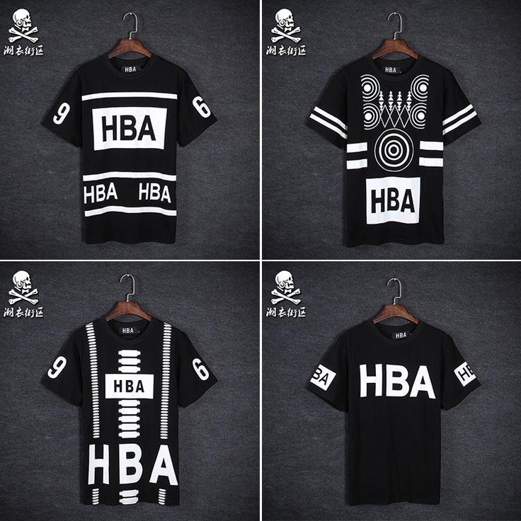 2015  Summer HBA number 69 t shirt Men Hood By Air t shirt short sleeve Hip hop…
