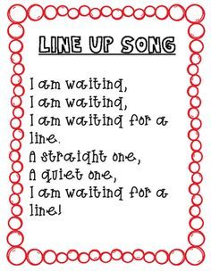 You will find 4 transitional songs to use in your early childhood classroom. Some of these are songs that I have made up and others have been taught to me by other teachers over the years. I find that singing helps transitions through out the day.You can print these cute song pages so that you always have them handy during transitions! 1 Line up song1 Stairs song1 Follow me song1 Good bye song