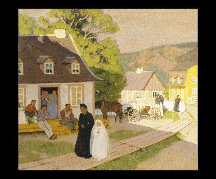 Clarence Gagnon (1881 - 1942), Village Life, 1928 - 1933